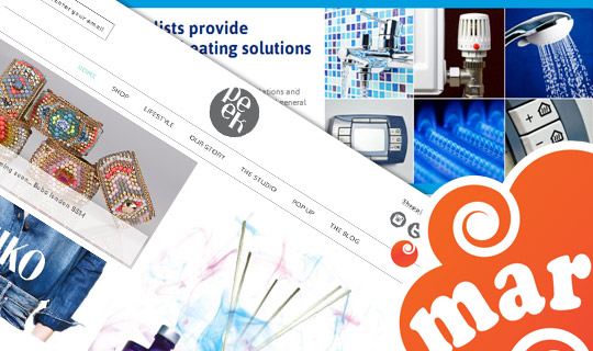 web design, html emails, newsletters, social media, blogs
