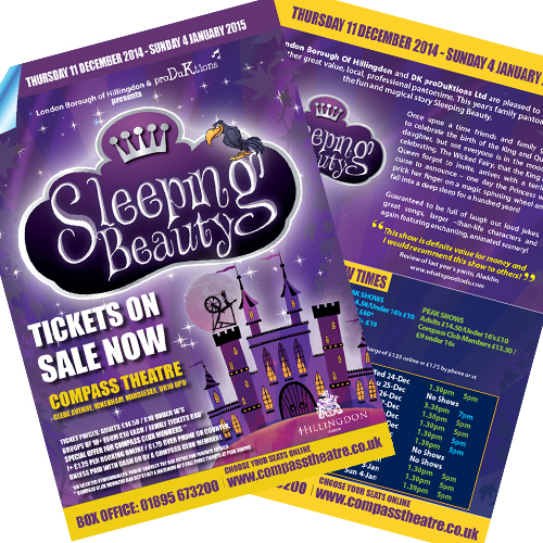 Production company leaflets and posters