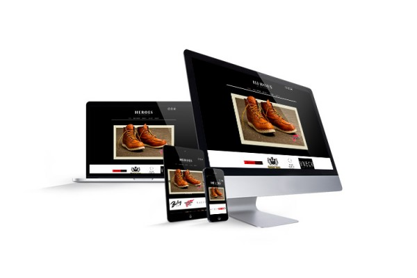 Website for men's fashion retailer