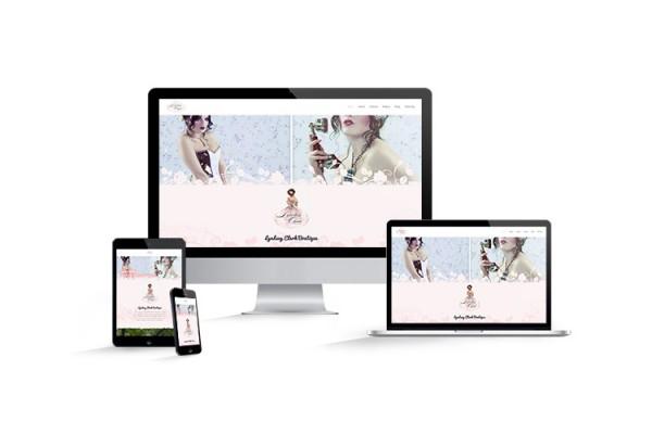 Website design for Lyndsey Clark Boutique