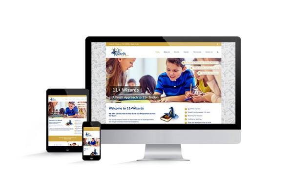 11+ Wizards Website design and build